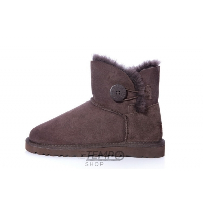 Угги UGG Bailey Button Mini Chocolate