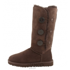 Угги UGG Bailey Button Triplet Chocolate