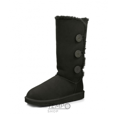 Угги UGG Bailey Button Triplet Black