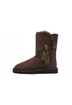 Угги UGG Bailey Button Azalea Chocolate