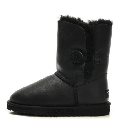 Угги UGG Bailey Button METALLIC Black