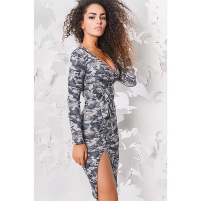 Платье КР-5978-4, (Графит-серый)