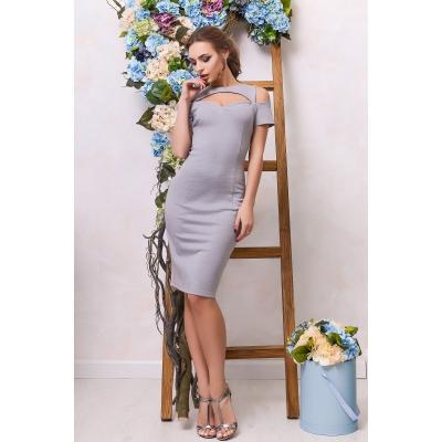 Платье KP-5888, (Серый)