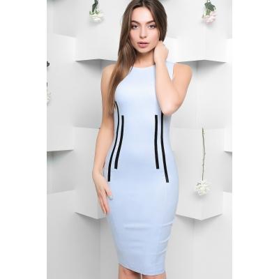 Платье KP-5881, (Голубой)