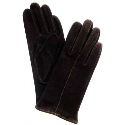Перчатки демисезонные замшевые женские