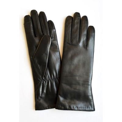 Перчатки зимние кожаные женские
